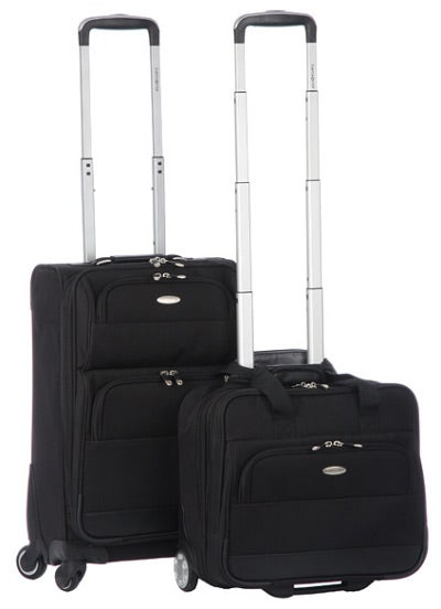 Samsonite 2 Piece Black Luggage Set