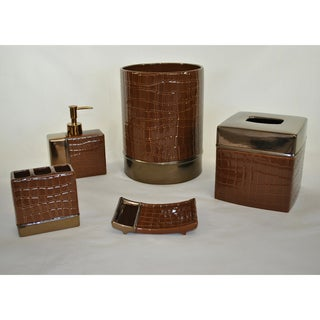 It's A Croc Cocoa 5-piece Bath Accessory Set