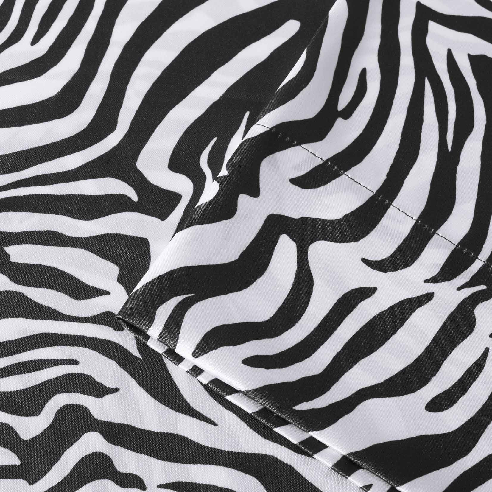 Premier Comfort Zebra Polyester Textured Satin Pillowcases (Set of 2)