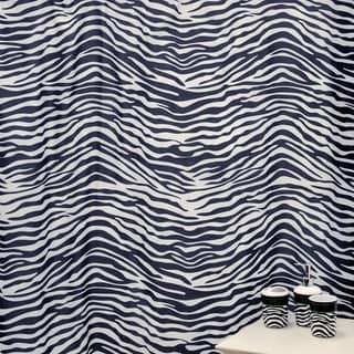 'Zebra Black' Shower Curtain and Ceramic Bath Accessory 16-piece Set