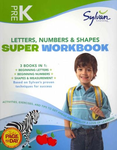 Pre-K Letters, Numbers & Shapes Super Workbook (Paperback)