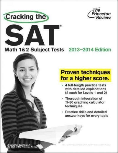 Cracking the SAT Math 1 & 2 Subject Tests,: 2013-2014 Edition (Paperback)