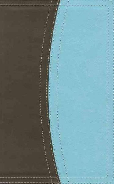 Holy Bible: King James Version Chocolate / Turquoise Italian Duo-Tone Reference Bible (Paperback)