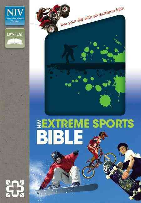 Holy Bible: New International Version, Blue / Green Italian Duo-Tone, Compact Thinline, Extreme Sports Bible (Paperback)
