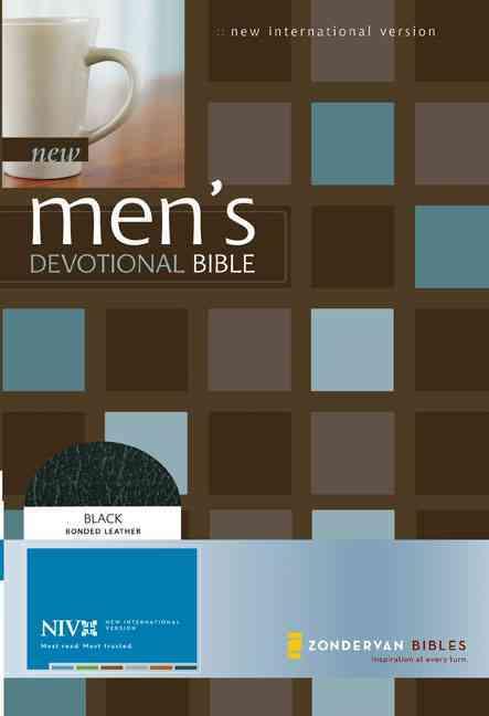 New Men's Devotional Bible New International Version: Black, Bonded Leather (Paperback)