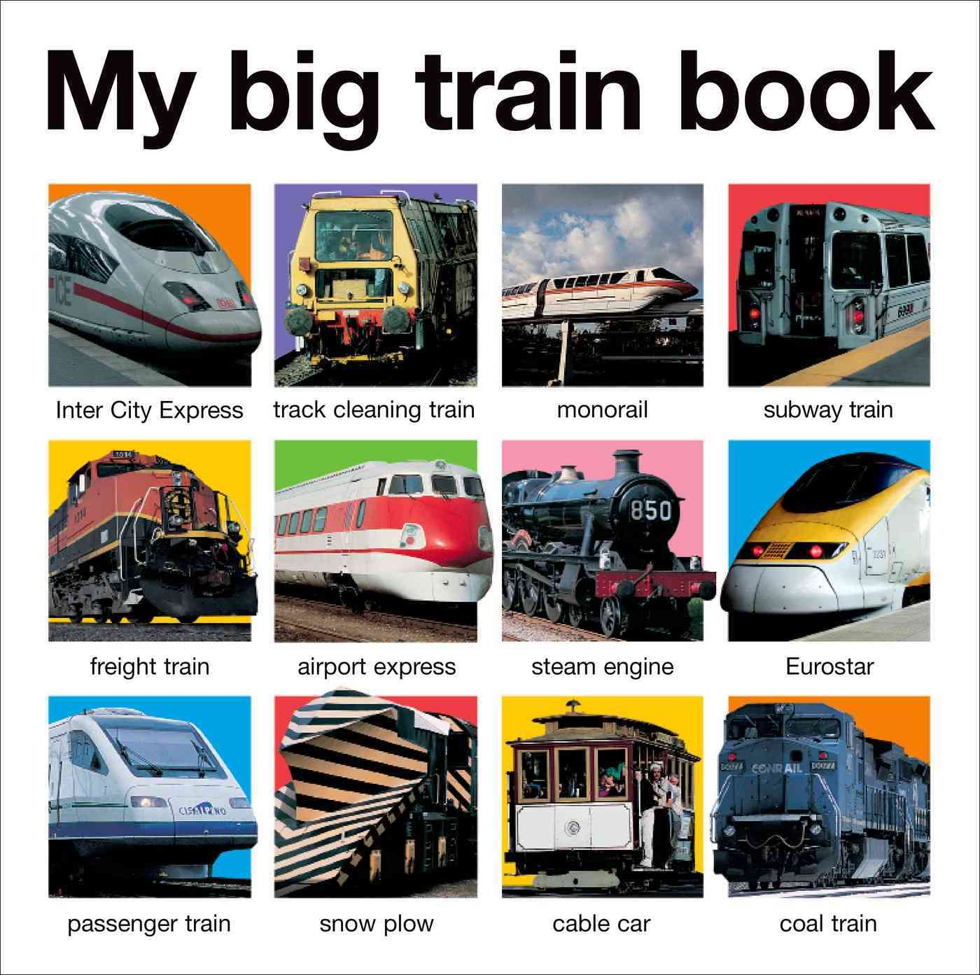 My Big Train Book (Board book)