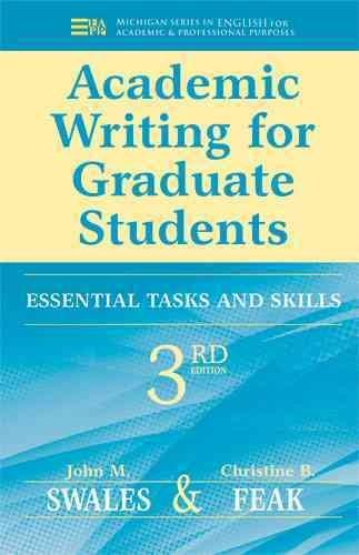Academic Writing for Graduate Students: Essential Tasks and Skills (Paperback)