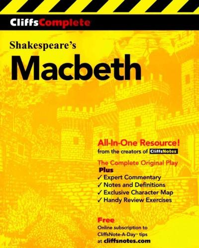 Cliffscomplete Macbeth (Paperback)