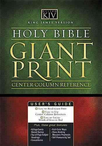 Holy Bible King James Version Classic Giant Print Center Column Reference Bible (Hardcover)