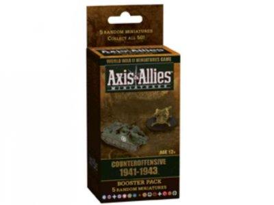 Axis & Allies Miniatures: Counteroffensive 1941-1943: Booster Pack, 5 Random Miniatures (Hardcover)