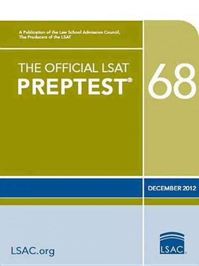 The Official LSAT Preptest 68: December 2012 (Paperback)