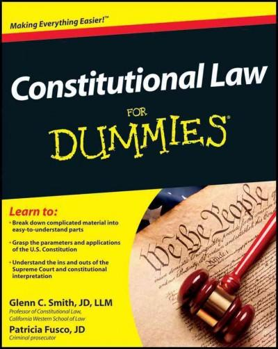 Constitutional Law for Dummies (Paperback)