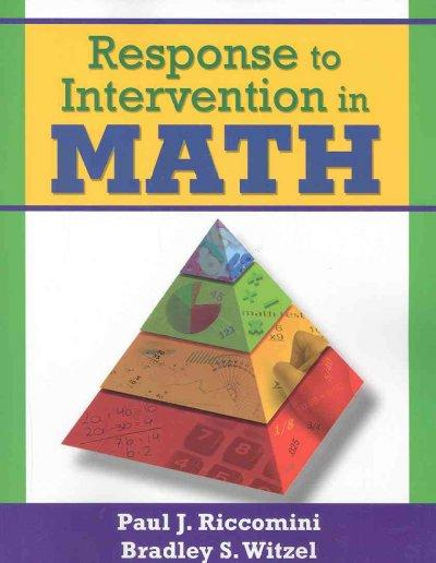 Response to Intervention in Math (Paperback)