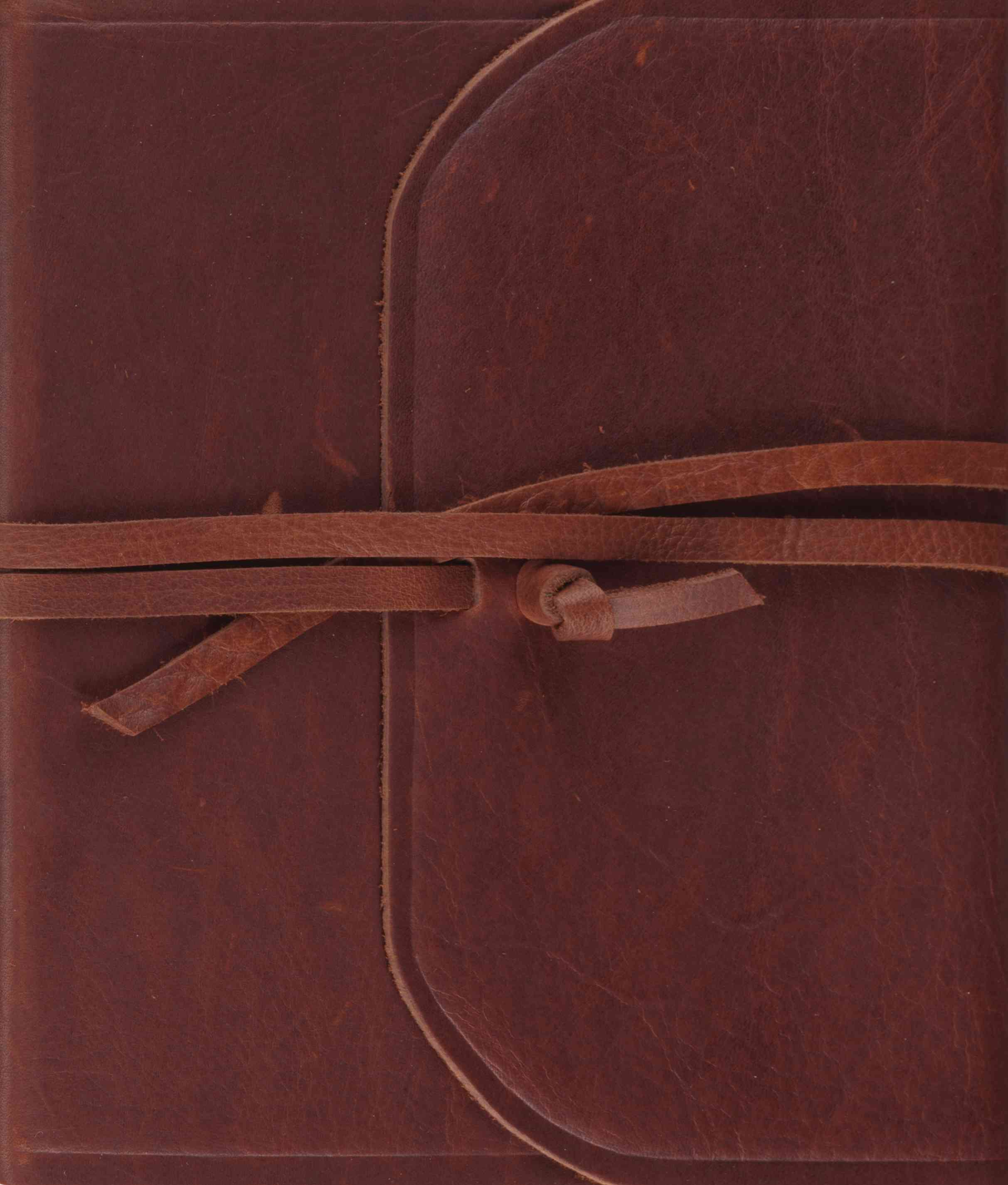 The Holy Bible: English Standard Version, Brown, Natural Leather, Single Column Journaling Bible (Paperback)