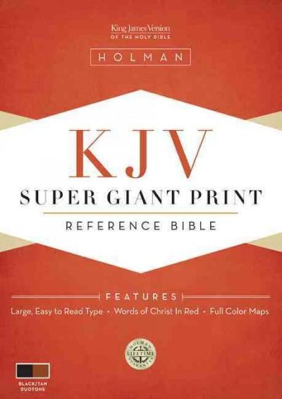 Holy Bible: King James Version, Black/Tan Simulated Leather, Super Giant Print (Paperback)