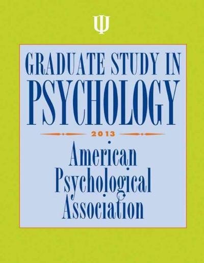 Graduate Study in Psychology 2013 (Paperback)