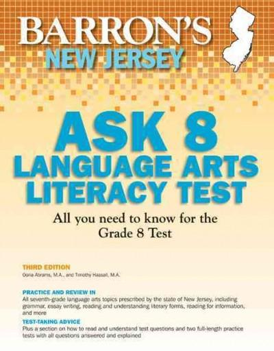Barron's New Jersey Ask 8 Language Arts Literacy Test (Paperback)