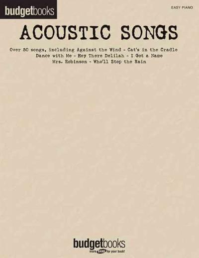 Budgetbooks Acoustic Songs (Paperback)