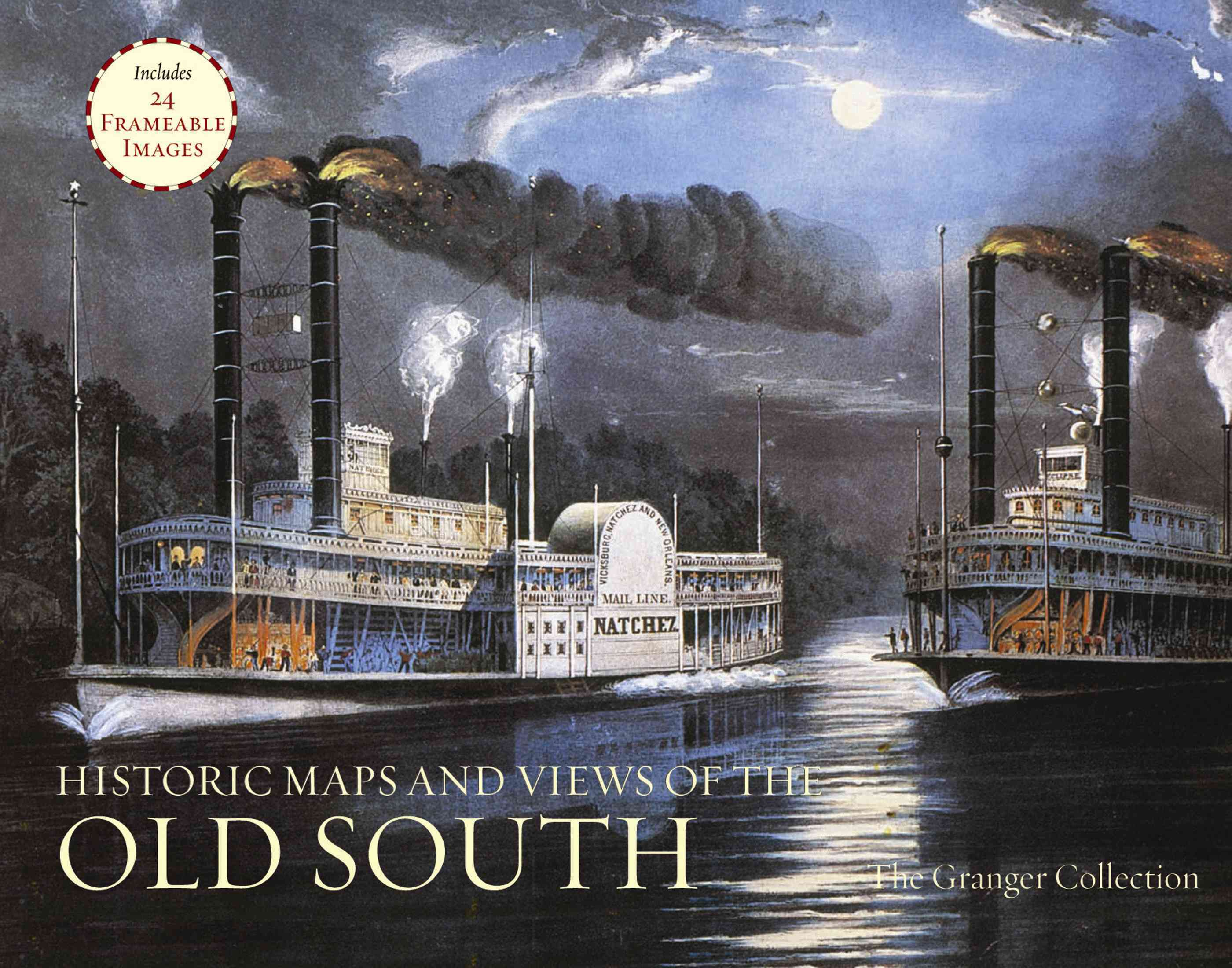Historic Maps and Views of the Old South: Includes 24 Frameable Images (Paperback)