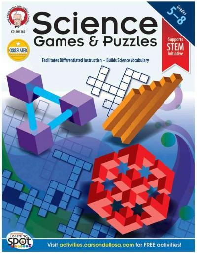 Science Games and Puzzles, Grades 5-8 (Paperback)