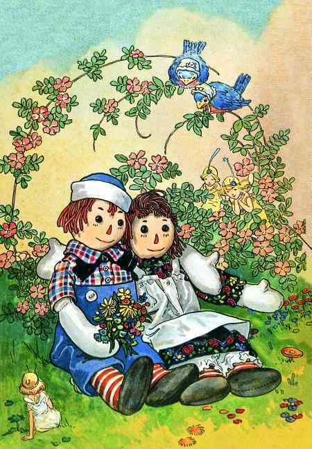 Raggedy Ann & Andy Hugging: 6 Cards Individually Bagged With Envelopes & Header (Cards)