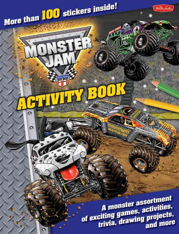 Monster Jam Activity Book: A monster assortment of exciting games, activities, trivia, drawing projects, and more (Paperback)