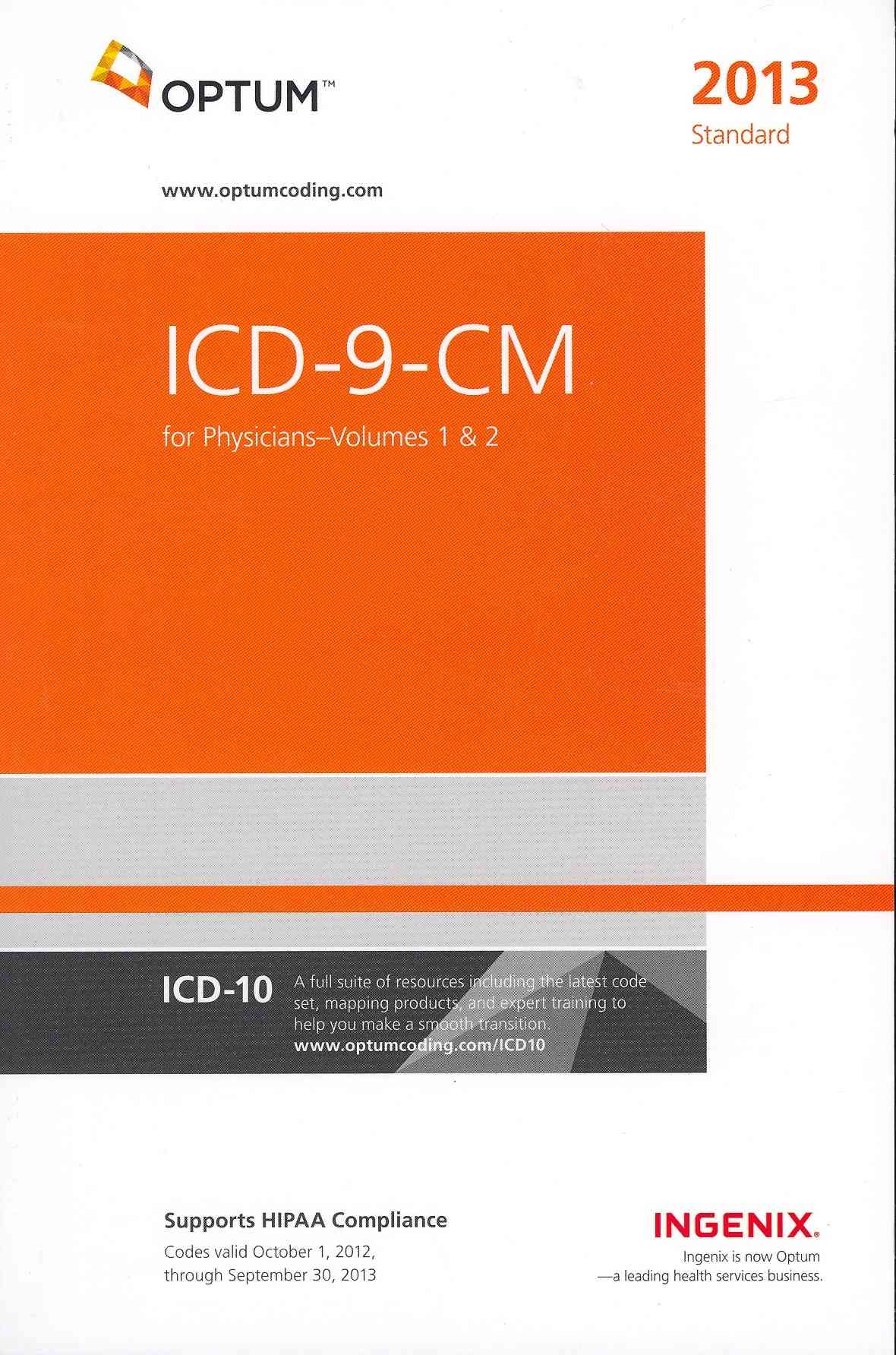 ICD-9-CM for Physicians 2013: Standard Edition (Paperback)