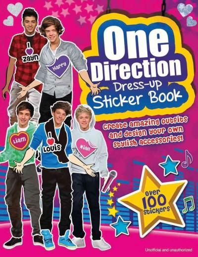One Direction Dress-Up Sticker Book (Paperback)
