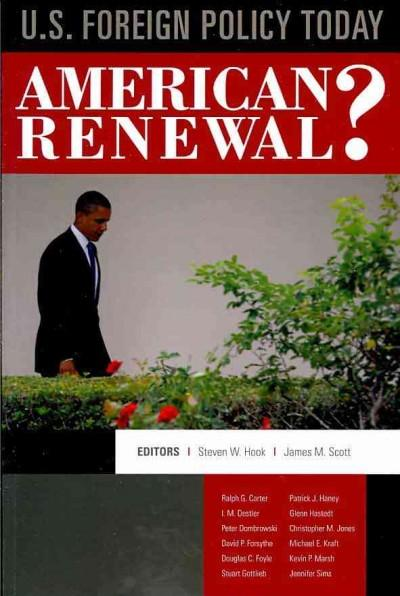 U.S. Foreign Policy Today: American Renewal? (Paperback)