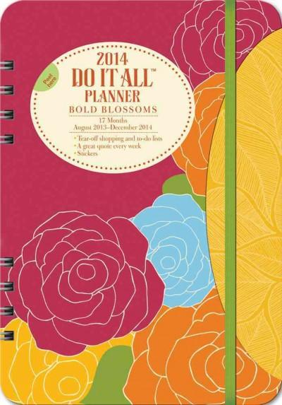 Bold Blossoms 17 Months 2014 Do It All Planner: August 2013 - December 2014 (Calendar)