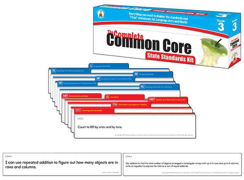 The Complete Common Core State Standards Kit, Grade 3 (Cards)