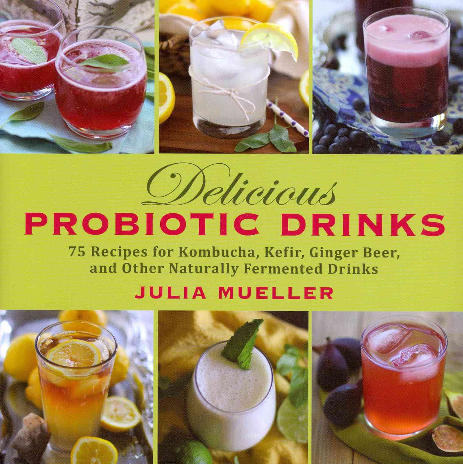 Delicious Probiotic Drinks: 75 Recipes for Kombucha, Kefir, Ginger Beer, and Other Naturally Fermented Drinks (Hardcover)