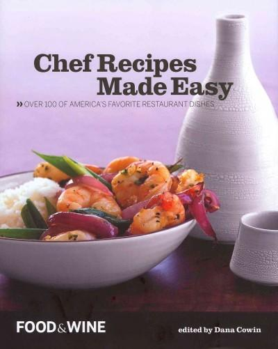 Chef Recipes Made Easy (Hardcover)