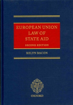 European Union Law of State Aid (Hardcover)