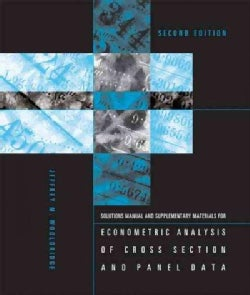 Econometric Analysis of Cross Section and Panel Data (Paperback)