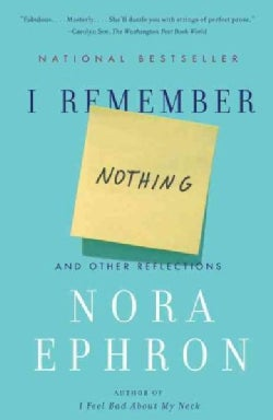 I Remember Nothing: And Other Reflections (Paperback)