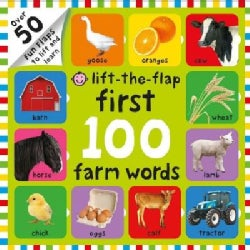 First 100 Farm Words Lift-the-flap (Board book)