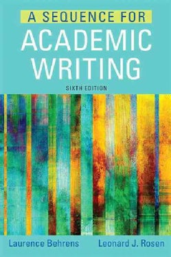A Sequence for Academic Writing (Paperback)