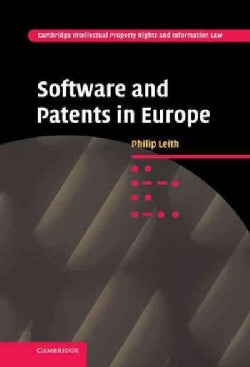 Software and Patents in Europe (Hardcover)