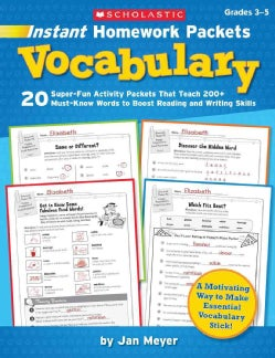 Instant Homework Packets: Vocabulary (Paperback)