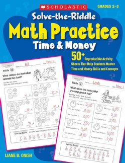 Solve-the-Riddle Math Practice Time & Money Grades 2-3 (Paperback)