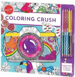 Coloring Crush: Book Includes 5 Double-tipped Colored Pencils