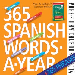 365 Spanish Words-a-Year Page-a-Day 2014 Calendar (Calendar)