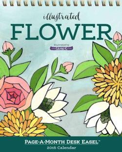 Flower Page-a-Month Easel 2016 Calendar (Calendar)