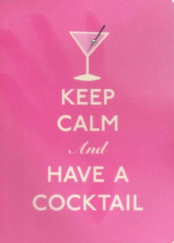 Keep Calm and Have a Cocktail Polypro Journal (Notebook / blank book)