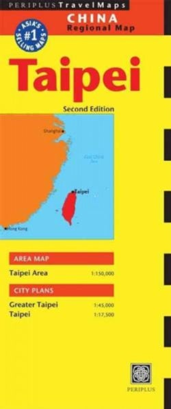 Periplus Travel Maps Taipei: China Regional Map (Sheet map, folded)
