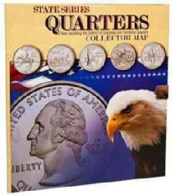 State Series Quarters Collector Map: Also Including the District of Columbia and Territorial Quarters (Hardcover)