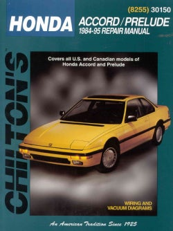 Chilton's Honda: Accord/Prelude 1984-95 Repair Manual (Paperback)