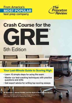 Crash Course for the GRE (Paperback)