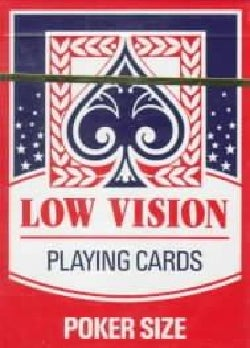 Low Vision Playing Cards: Poker Size (Cards)